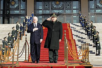 Liang Guanglie - Liang with the visiting U.S. Secretary of Defense Robert M. Gates in Beijing, 2011
