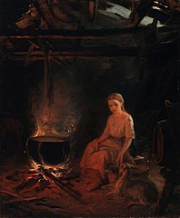 A Peasant Girl by the Pot