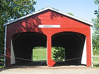 Roberts Covered Bridge, eastern end.jpg