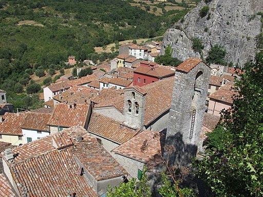 Roccalbegna, veduta dal Cassero