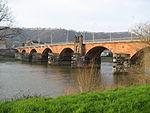 Römerbrücke in Trier. Die Bögen wurden im 14. Jahrhundert hinzugefügt