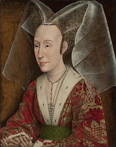 Ficheiro:Rogier van der Weyden (workshop of) - Portrait of Isabella of Portugal.jpg
