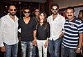 Rohit Shetty, Ajay Devgn, Prachi Desai, Abhishek Bachchan, Ashoo Sethi Cast of 'Bol Bachchan' meet fans at Fame Inorbit Mall 04.jpg
