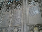 Roll of fame for The Rifle Brigade on the north wall at Winchester Cathedral - geograph.org.uk - 1162341