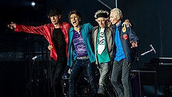 v. l. n. r.: Mick Jagger, Ron Wood, Keith Richards, Charlie Watts (2018)