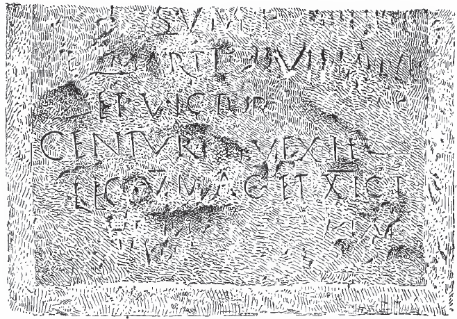 Roman inscription near bettir