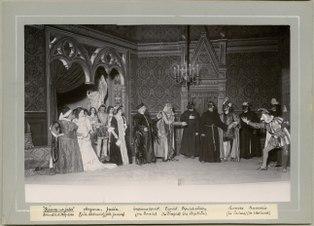 Romeo och Julia, Dramatiska teatern 1900. Föreställningsbild - SMV - H10 034.tif