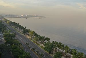 Manila Bay - Roxas Boulevard facing Manila Bay