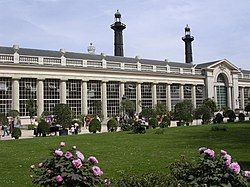 The orangerie of the Royal Castle of Laeken (ca.1820) are the eldest part of the monumental Royal Greenhouses of Laeken.