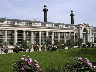 Orangery - The orangerie of the Royal Castle of Laeken, Belgium (ca.1820), is the oldest part of the monumental Royal Greenhouses of Laeken.