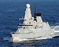 Royal Navy Type 45 destroyer HMS Daring (7843764620).jpg