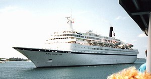 Black Watch (ship) - Royal Viking Star in Bermuda in 1989.