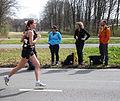 Running sportswoman on road marathon Rotterdam 2015.jpg