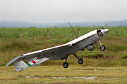 The Mexican UAV S4 Ehécatl in take-off mode