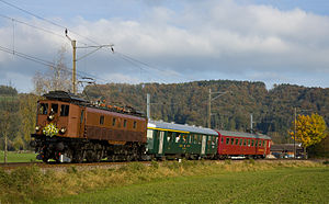 SBB-CFF-FFS Be 4/6 12303-12342 - Be 4/6 12320 travelling between Rämismühle-Zell and Rikon in 2009