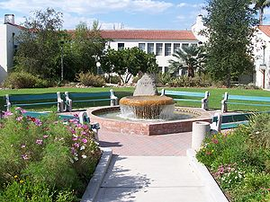 Courtyard with a fountain near the Physical Sc...