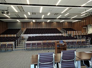 S.J. Quinney College of Law - The moot courtroom of the S.J. Quinney College of Law.
