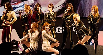 The Boys (Girls' Generation song) - Girls' Generation performing at LG Cinema 3D World Festival in 2012