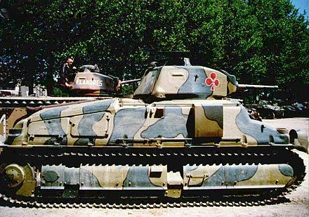 The SOMUA S35 tank was considered one of the most modern types in French service at the time SOMUA-S35-2.jpg