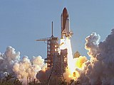 Maiden launch of Space Shuttle Discovery
