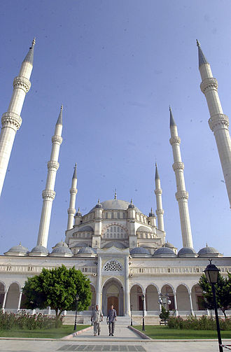 Religion in Turkey - Sabancı Merkez Camii, Adana, built in 1998, is the largest mosque in Turkey.