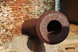 Sadras - Cannon inside the Dutch fort at Sadras