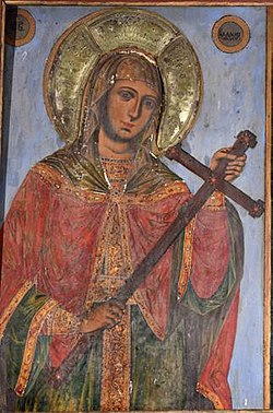 Saint Kyriaki Icon by Dicho Zograf in Saint Kyriaki Church in Debrene, 1844.jpg