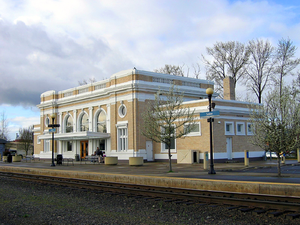 Salem station (Oregon) - Trackside of Salem Depot