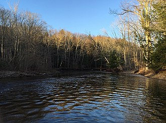 Salmon River (Connecticut) - Looking downstream on the Salmon River immediately after the confluence of the Jeremy and Blackledge Rivers.