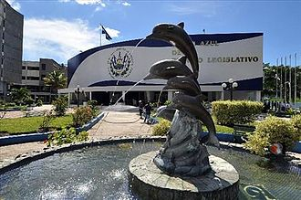 Legislative Assembly of El Salvador - Image: Salon Azul del Palacio Lgislativo