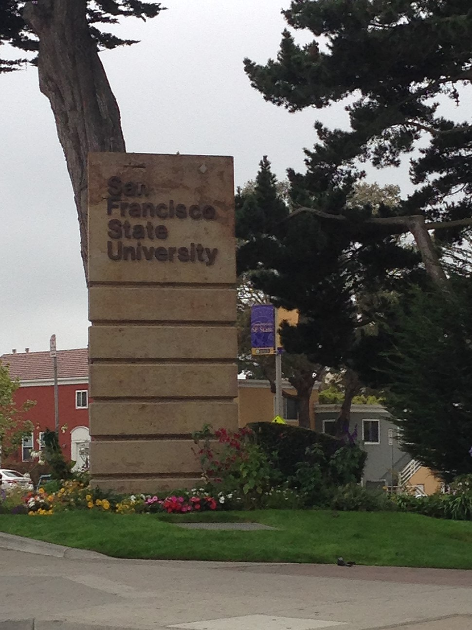 San Francisco State University sign