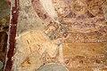 San lorenzo in insula, cripta di epifanio, affreschi di scuola benedettina, 824-842 ca., madonna in trono col bambino e monaco adorante 04.jpg