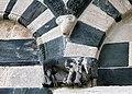 San michele di murato, facciata, con rilievi del 1140 ca. 12 bestia feroce, forse lupo.jpg