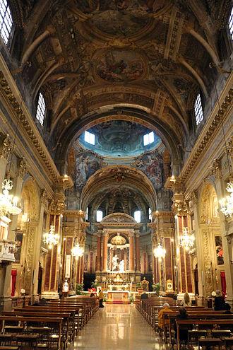 San Paolo Maggiore, Bologna - Nave towards main altar.