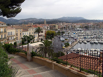 Sanary-sur-Mer - A view of the harbour and waterfront in Sanary-sur-Mer