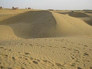 Bikaner - Sand dunes near Bikaner, Rajasthan