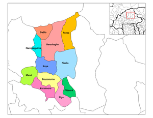 Provincial map of its departments