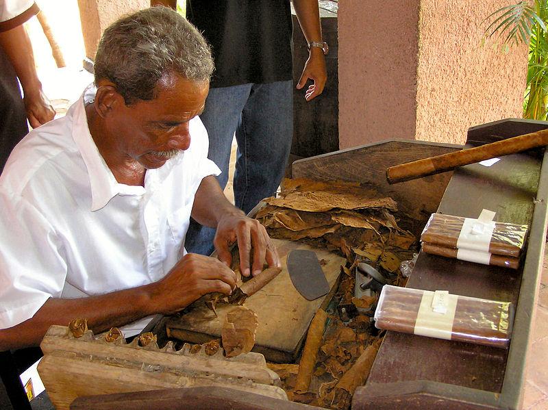Rolling cigars in Cuba