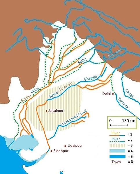 Civilisations mystérieuses de l'Asie 483px-Sarasvati-ancient-river