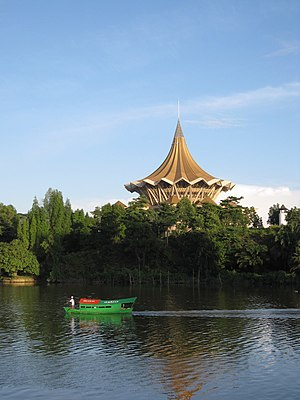 New Sarawak State Legislative Assembly Building - Riverfront view of Sarawak state assembly building