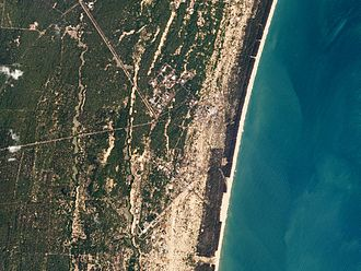 PSLV-C37 - The Satish Dhawan Space Centre in Sriharikota, India, imaged by a Dove cubesat two days before the scheduled, record-setting PSLV-C37 launch