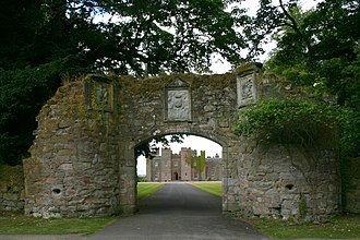 James I of Scotland - Entrance and only remaining part of Scone Abbey