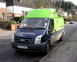 SSE plc - A Scottish and Southern Energy van, 2011.