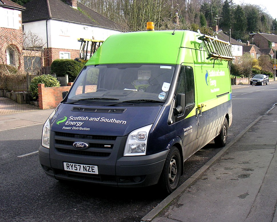 Scottish and Southern Energy van 24 Feb 2011