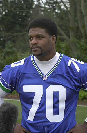 Michael Sinclair (American football) - Image: Seahawk player Michael Sinclair, 2002 (24103477470)