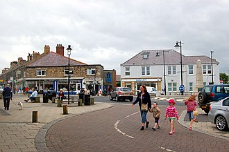 Seahouses - Image: Seahouses town centre looking west to Main Street geograph.org.uk 1379437