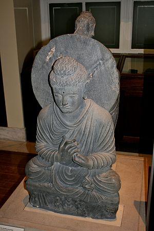 Seated Buddha from Gandhara - Image: Seated Buddha, British Museum