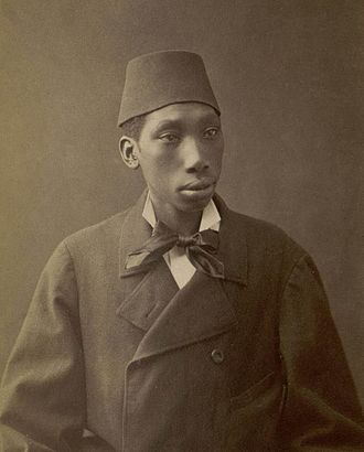 Eunuch - Black eunuch of the Ottoman Sultan. Photograph by Pascal Sebah, 1870s