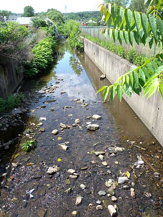 Urban stream - Second River, an urban stream in Orange, New Jersey