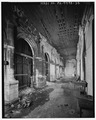 Second floor; view north-east down entrance lobby (loggia of south - front - elevation) - North Philadelphia Station.tif